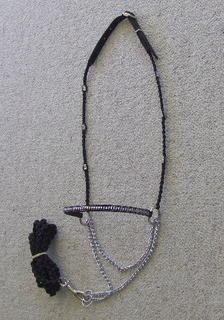 Show halter - braid bead side - silver